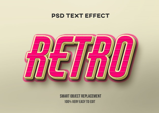 Tekst czerwony żółty retro efekt