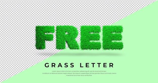 Tekst dowolny list z projektem trawy 3d