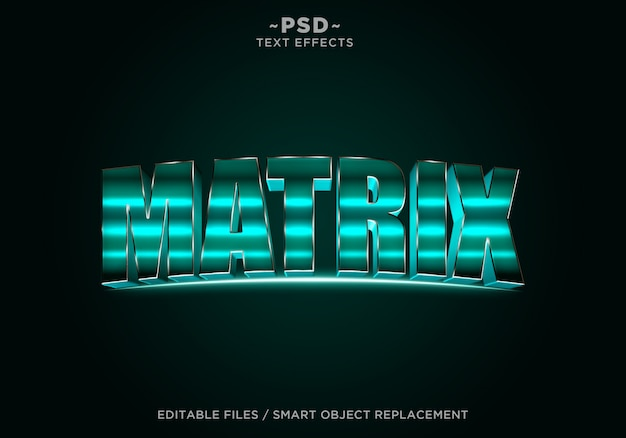Tekst edytowalny 3d green cinematic effect