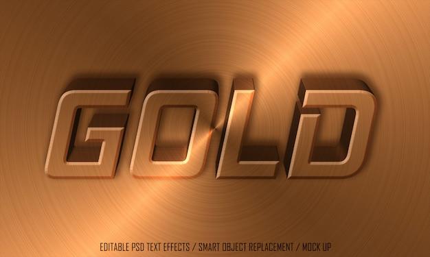 Tekst edytowalny efektu złotego metalu