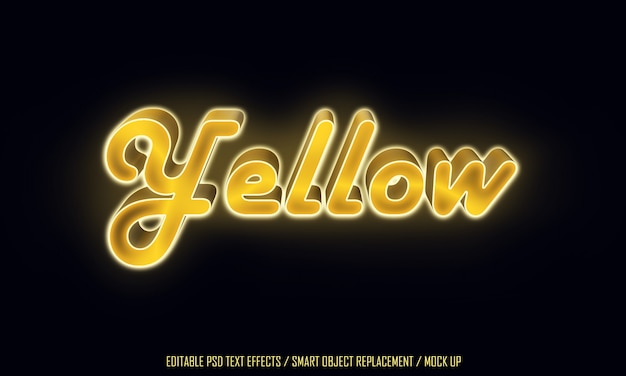 Tekst edytowalny w żółtym świetle