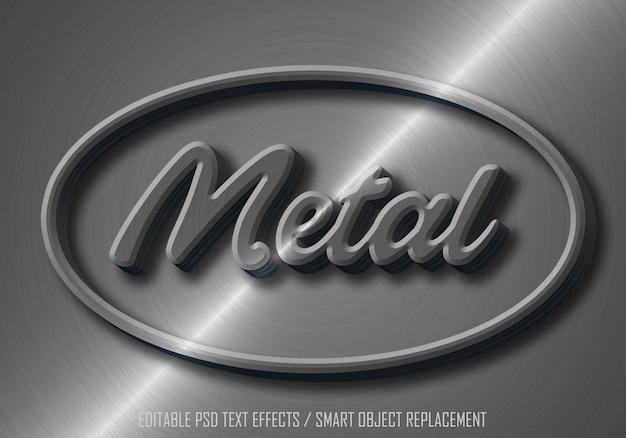 Tekst edytowalny z efektem metalowym