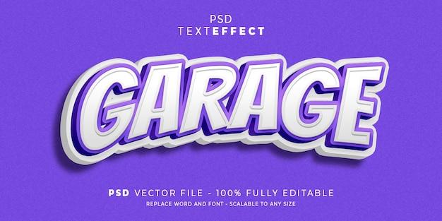 Tekst garażu i efekt czcionki