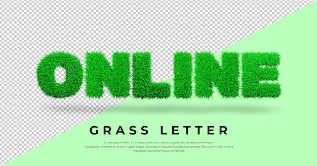 Tekst listu online z projektem trawy 3d