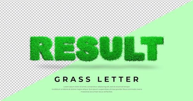 Tekst listu wynikowego z projektem trawy 3d