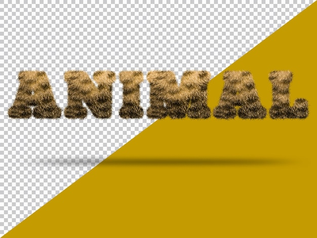 Tekst zwierzęcy z realistycznym futrem 3d