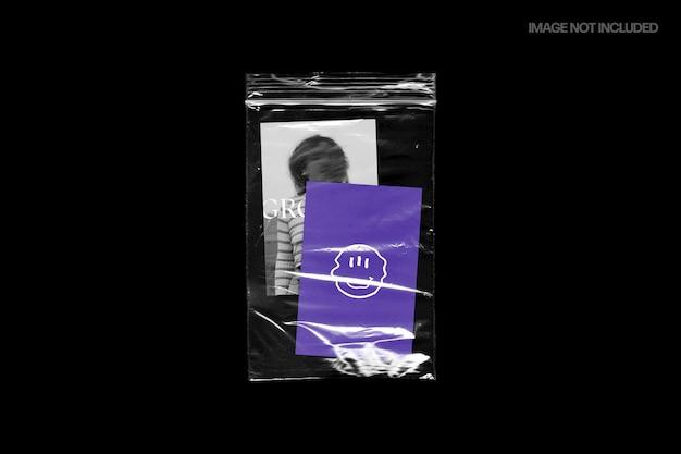 Tekstura plastikowej torby ziplock