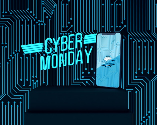 Telefon high-tech cyber poniedziałek reklama
