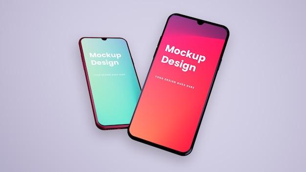 Telefon i ekran - makieta interfejsu użytkownika ux