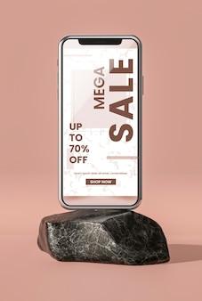 Telefon komórkowy 3d makiety minimalistyczny koncept
