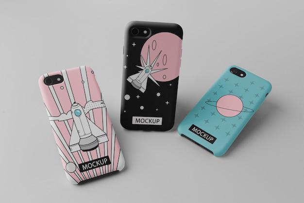 Telefon komórkowy z makietą o minimalistycznym wyglądzie
