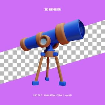 Teleskop do renderowania ikon 3d