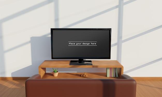 Telewizor w makieta salonu.