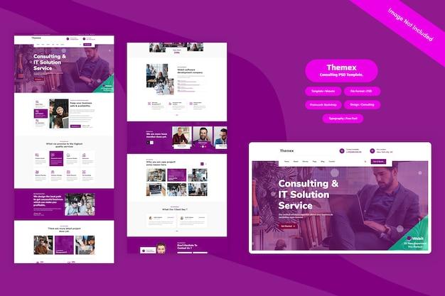 Themex - szablon sieci konsultingowej