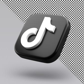 Tiktok 3d ikona projekt na białym tle