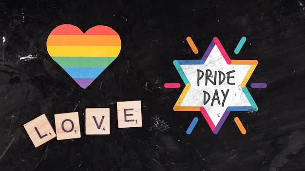 Tło dumy gejowskiej z sercem
