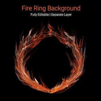 Tło pierścienia ognia