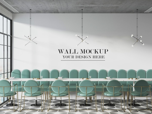 Tło ściany kawiarni lub bufetu