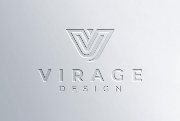 Tłoczone logo makieta