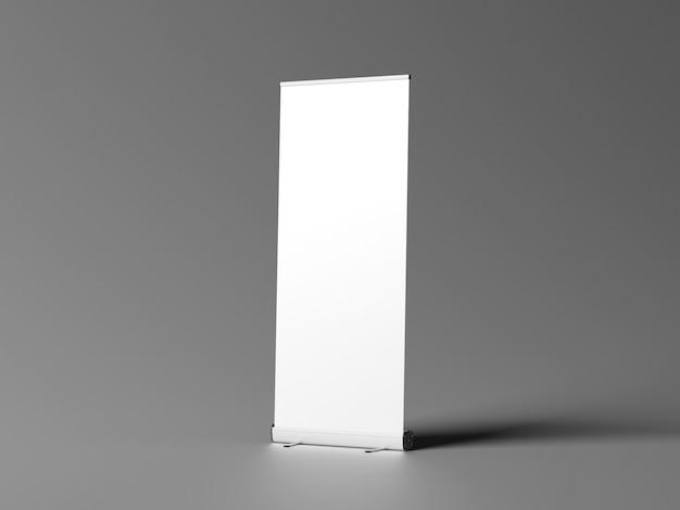 Toczą makieta transparent stojący na białym tle