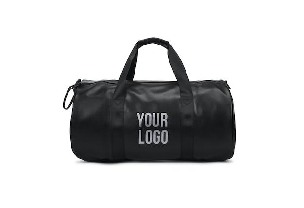 Torba na siłownię z logo makiety czarnej torby