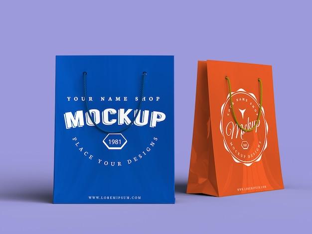 Torba na zakupy makieta pakietu produktów na zakupy