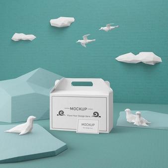 Torba papierowa kraft na oceaniczny dzień z makietą