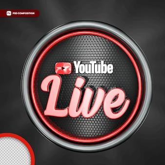 Transmisja na żywo z youtubera na białym tle