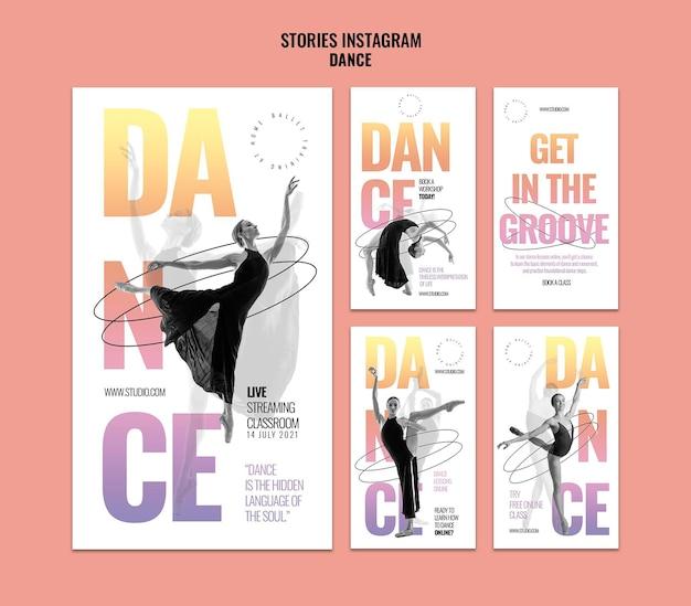 Transmisje na żywo taneczne historie na instagramie