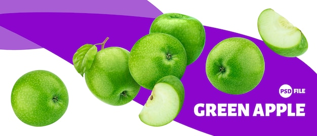 Transparent owoce zielone jabłko