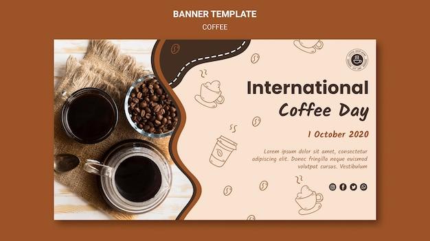 Transparent szablon kawiarni