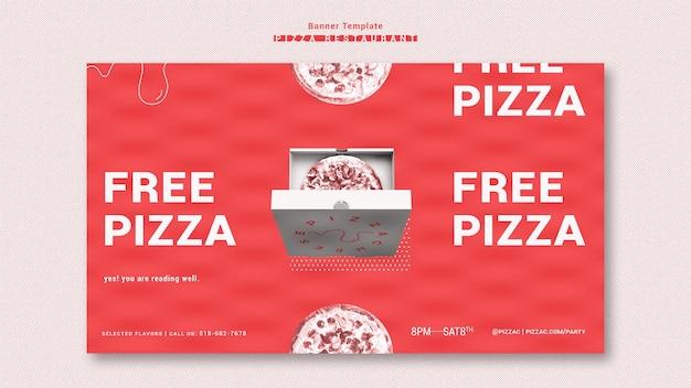 Transparent szablon restauracji pizzy