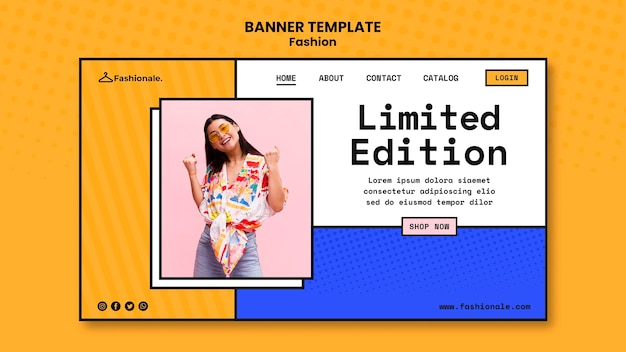 Transparent szablon sprzedaży mody