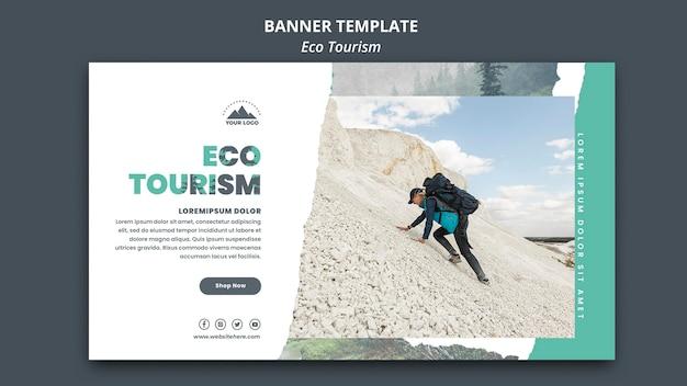 Transparent szablon turystyki ekologicznej