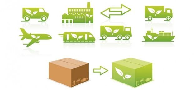Transportu projekty ekologiczne logo