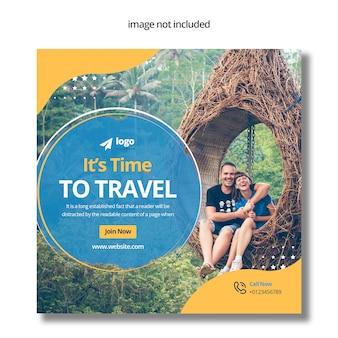 Travel post w mediach społecznościowych