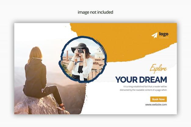 Travel web banner psd