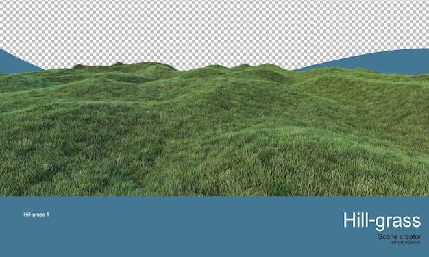 Trawiaste kopce o różnych poziomach