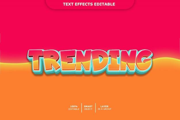 Trend w stylu tekstu 3d