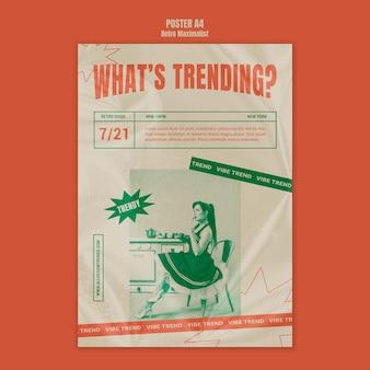 Trendy retro maksymalistyczny szablon plakatu