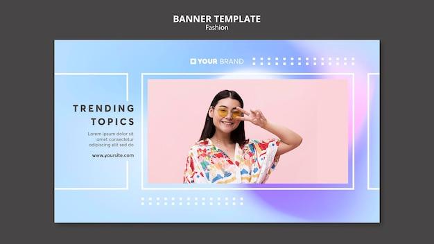 Trendy tematów szablon transparent mody