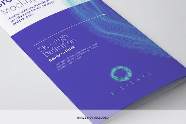 Tri-fold broszura makieta