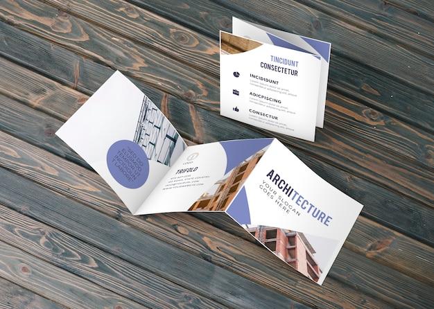 Trifold biznes broszura makieta