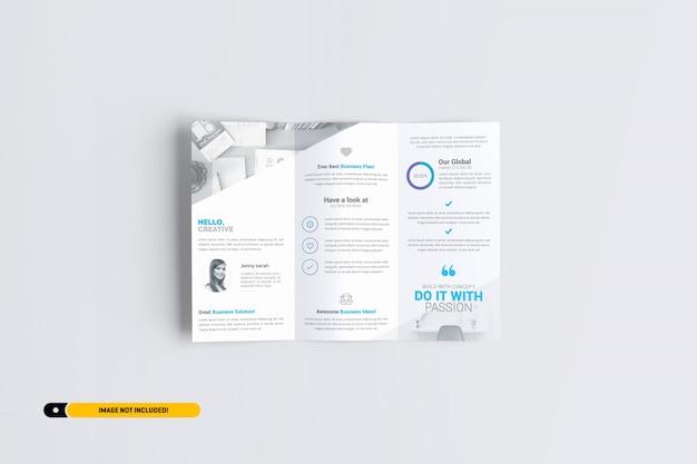 Trifold broszura makieta