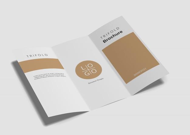 Trójfoldowa makieta broszury