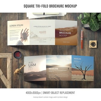 Trójkątna makieta broszurowa