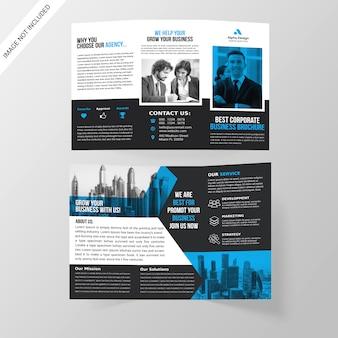 Trójstronna broszura firmowa