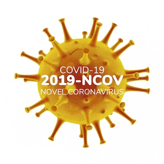 Trójwymiarowa ilustracja koronawirusa