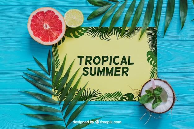 Tropikalna kompozycja summe