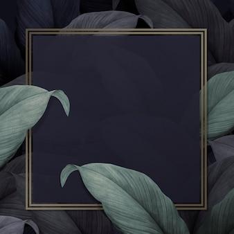 Tropikalne tło liści